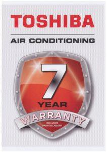Toshiba 7 Year Warranty